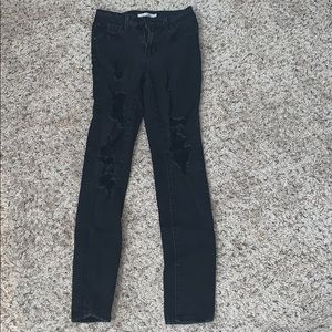 black 721 high rise skinny jeans from levi's